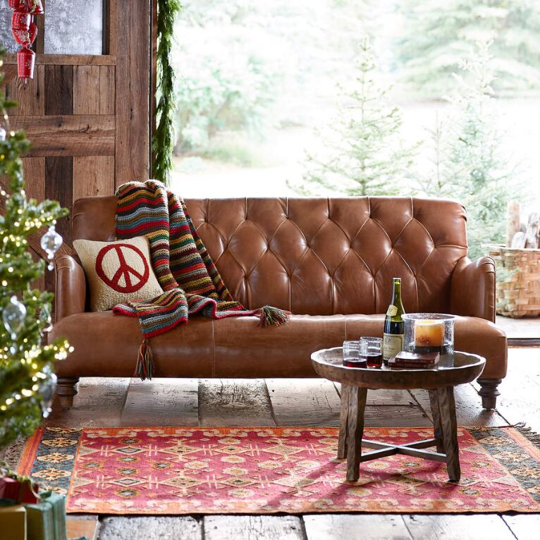 ALCAZAR LEATHER SOFA