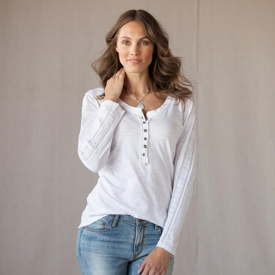 TIMELESS LACE HENLEY