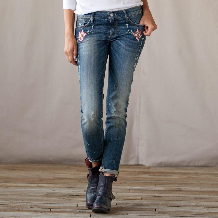 DRIFTWOOD TWINING FLORAL JEANS