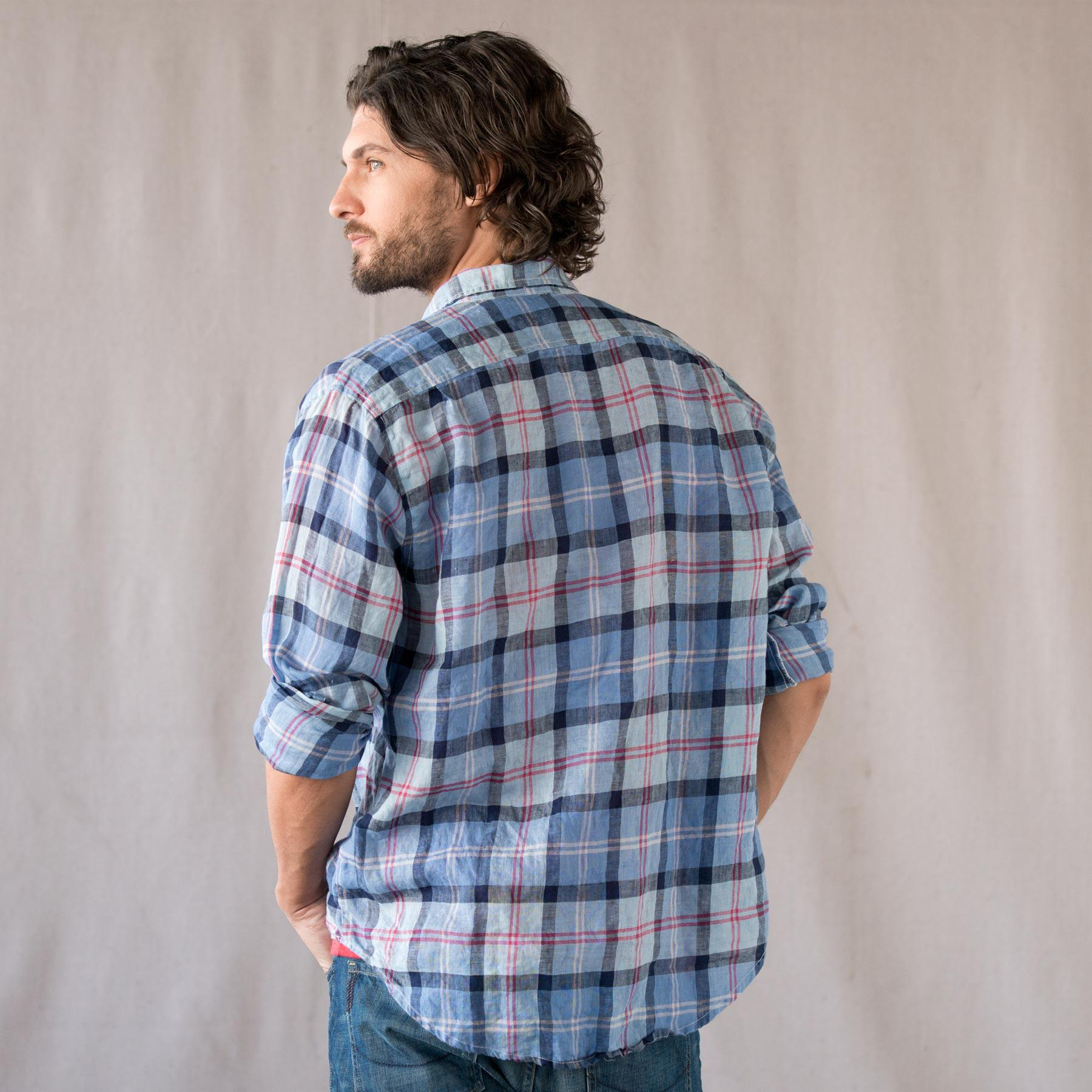 SUMMER PLAID LINEN SHIRT: View 2