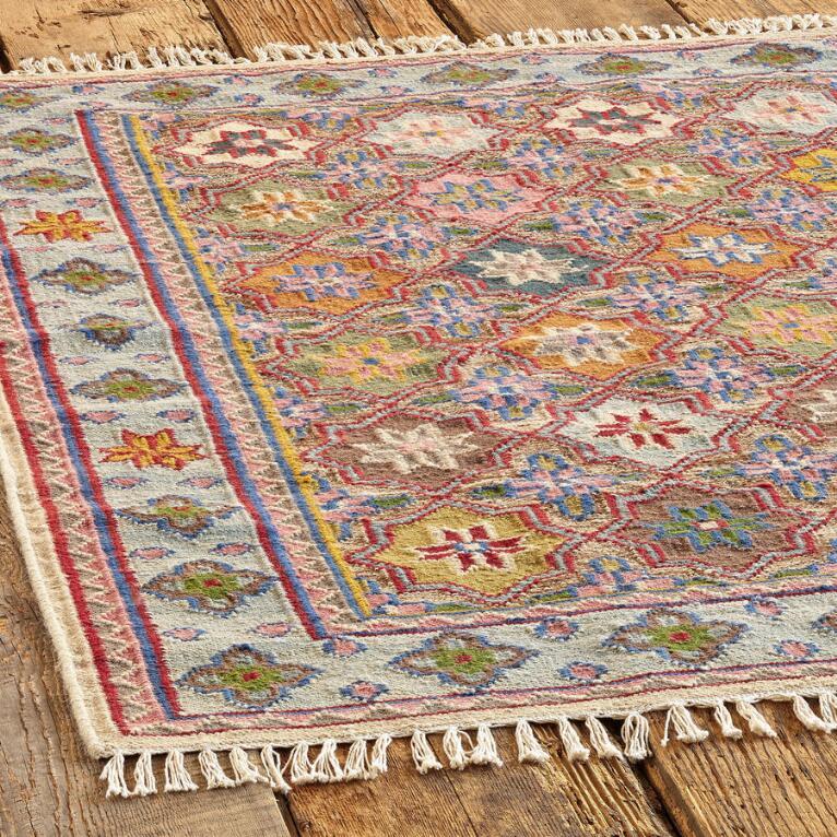 Large Handmade Colorful Dhurrie Rug Robert Redford S