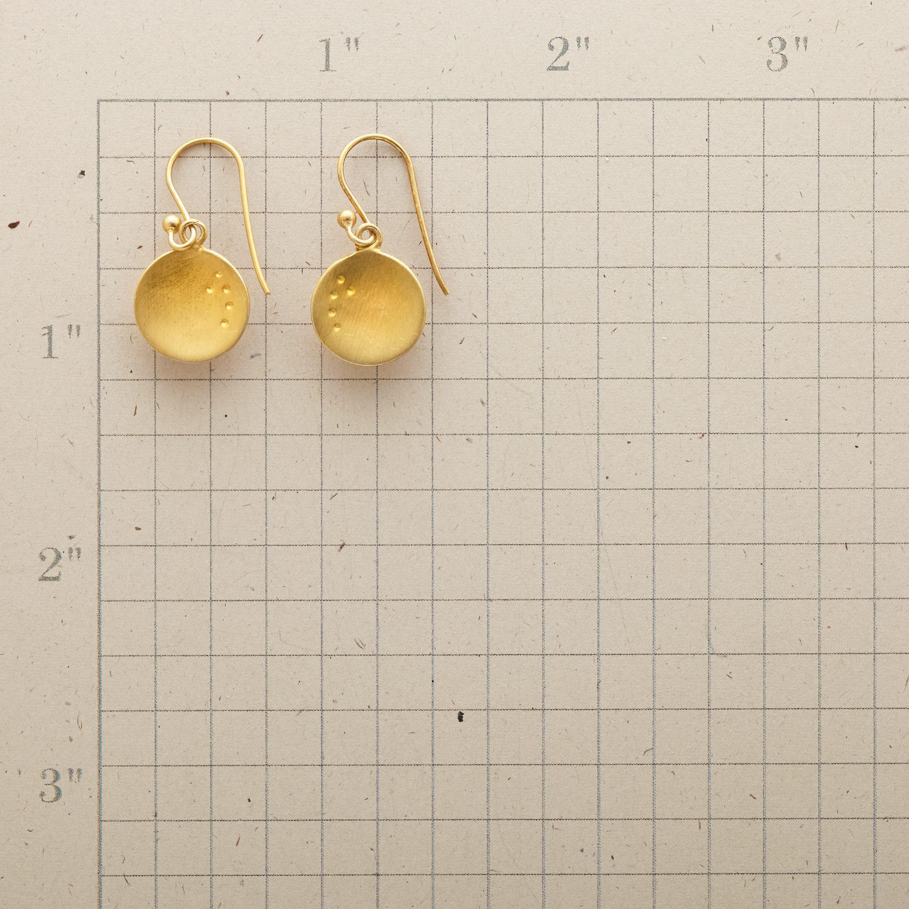DOTTED DISC EARRINGS: View 2