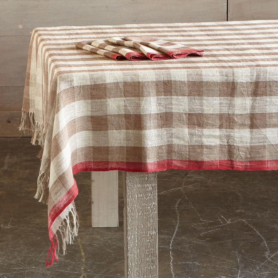 CALISTOGA CHECKERED TABLECLOTH