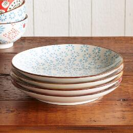 BOHEME SALAD PLATES, SET OF 4