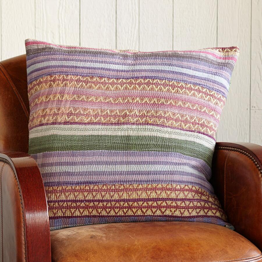 24IN ARTFUL STRIPED PILLOW
