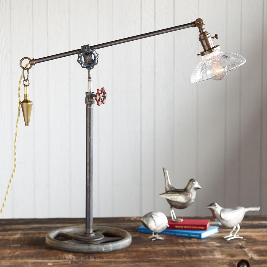 WHEATON GLASS LAMP