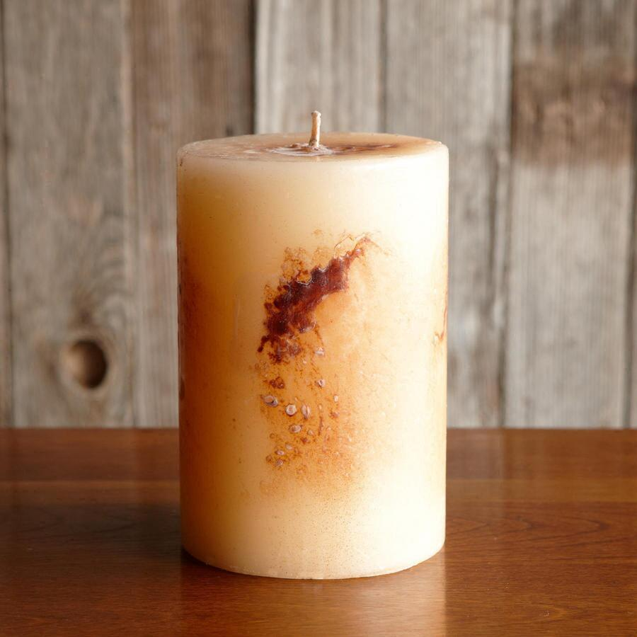 CHAMPAGNE ANTIGUA PILLAR CANDLE