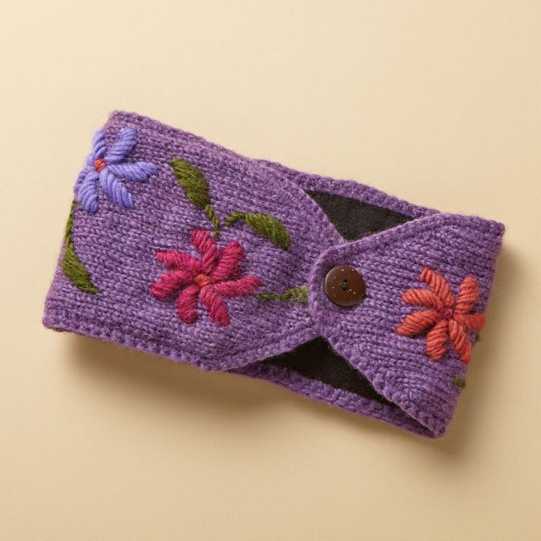 EMBROIDERED BLOOMS HEADBAND