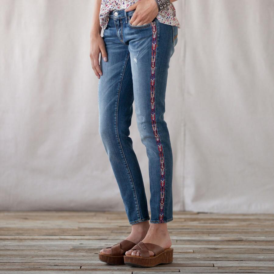 TAPESTRY TUX STRIPE JEANS BY DRIFTWOOD
