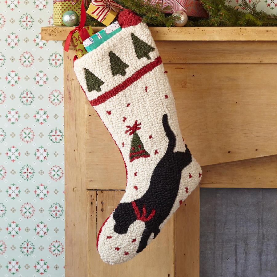 RUNNING DOG HOLIDAY STOCKING