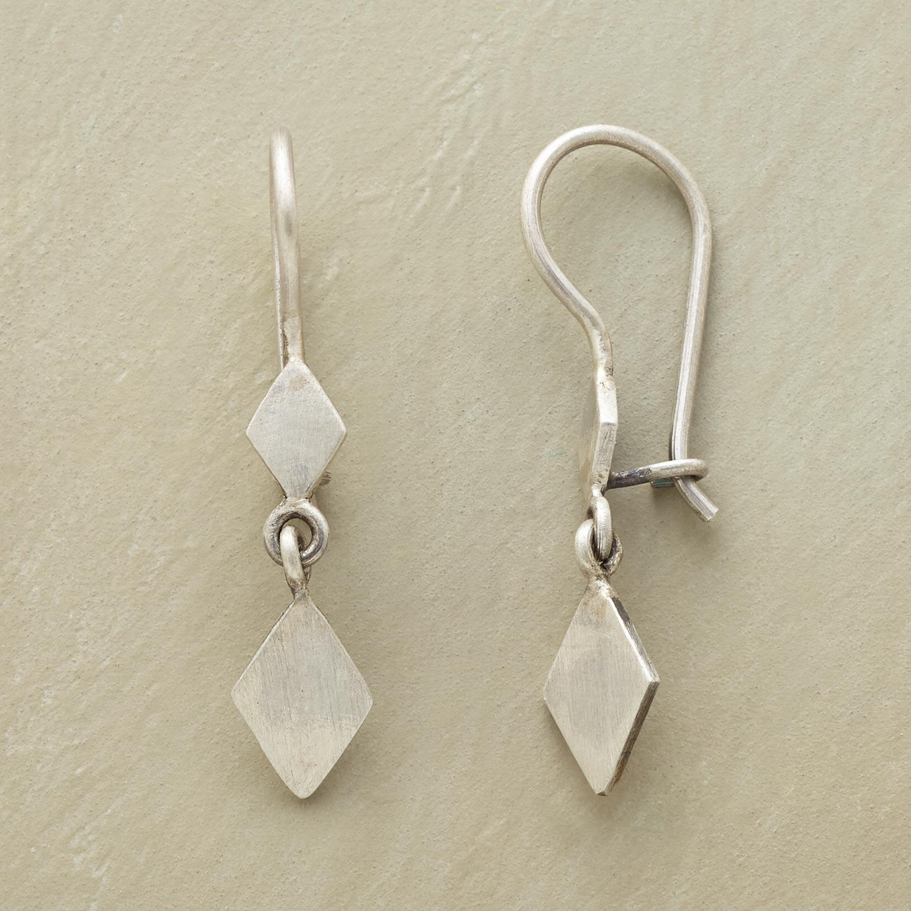 STERLING DIAMOND DUO EARRINGS: View 1