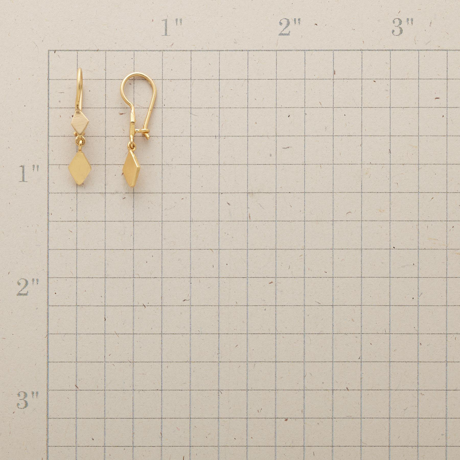 GOLD PLATED DIAMOND DUO EARRINGS: View 2