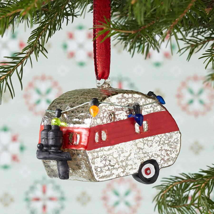 SILVERSTREAM HOLIDAY CAMPER ORNAMENT