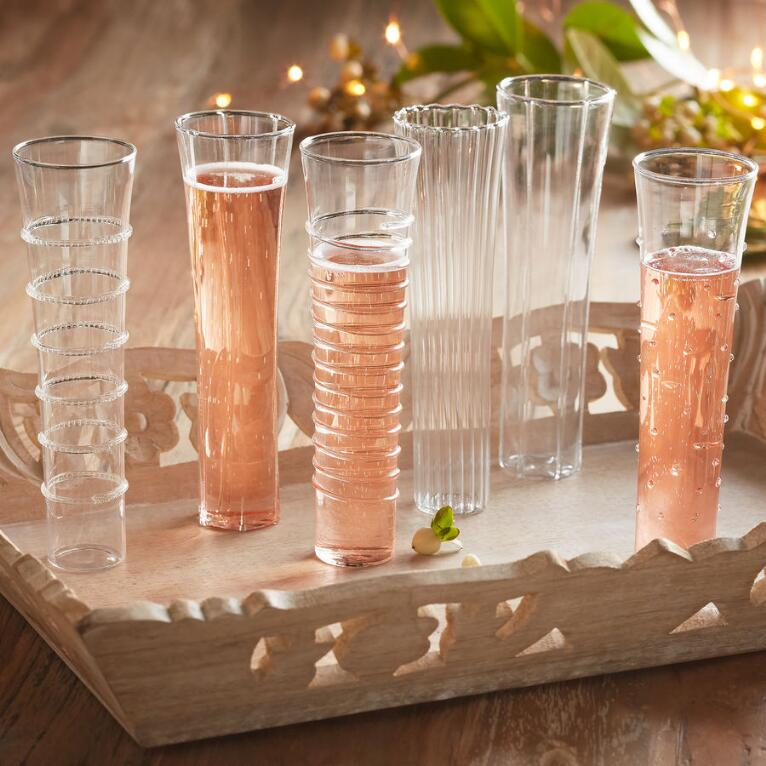 STARLIGHT CHAMPAGNE FLUTES, SET OF 6