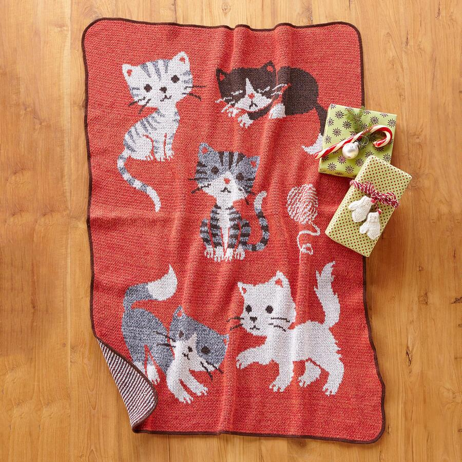 KITTEN THROW BLANKET