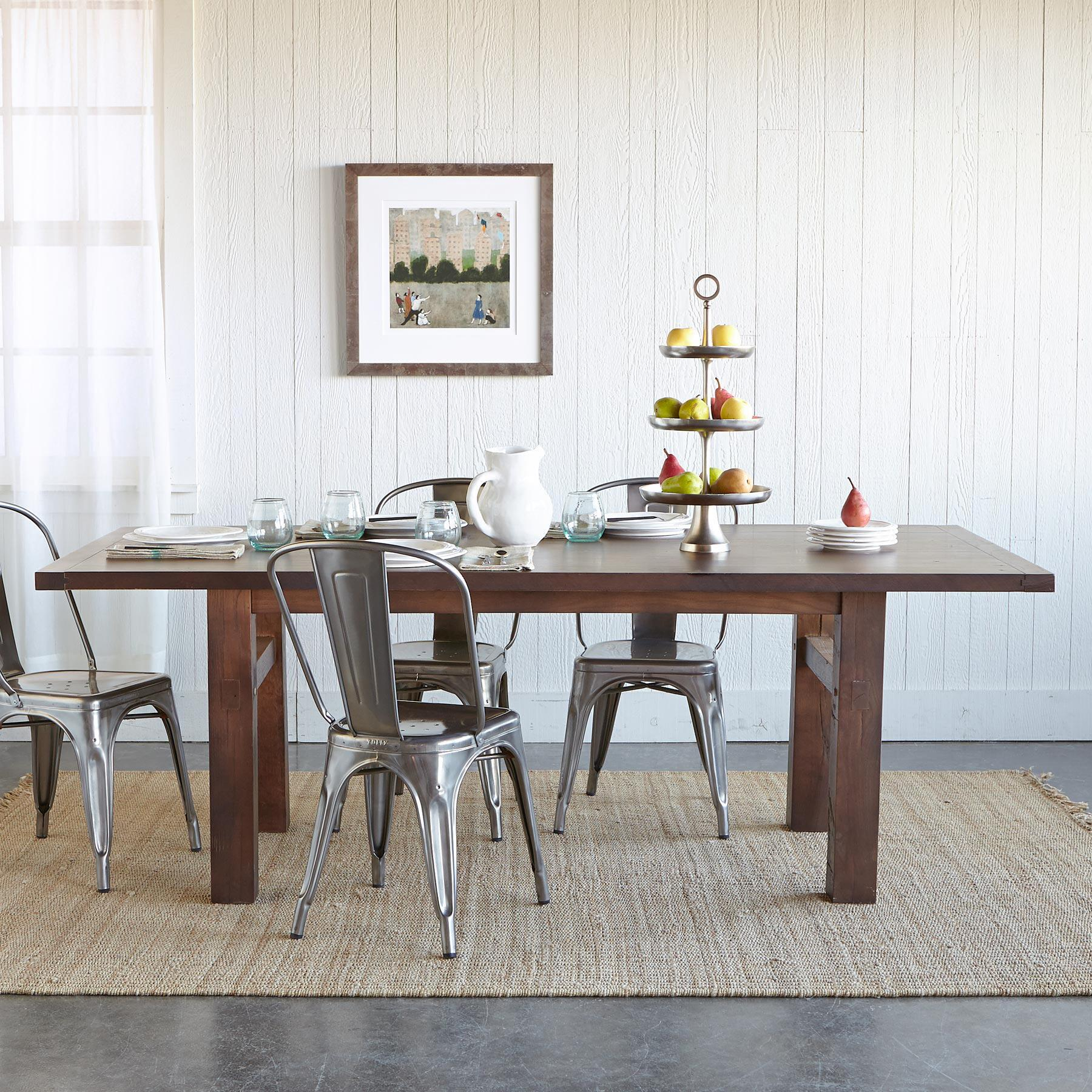OAKWOOD EXTENSION DINING TABLE: View 1