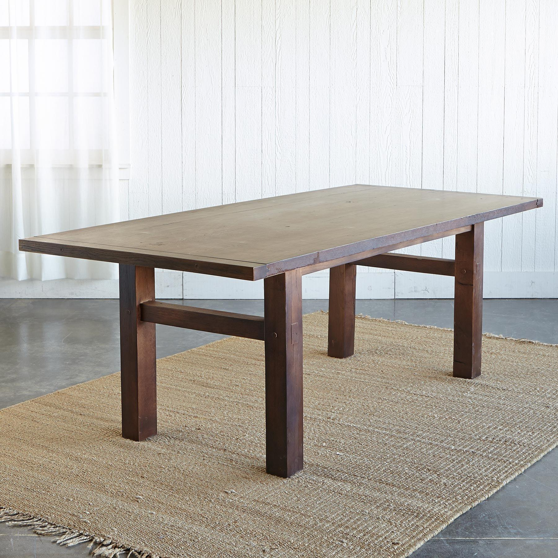 OAKWOOD EXTENSION DINING TABLE: View 2