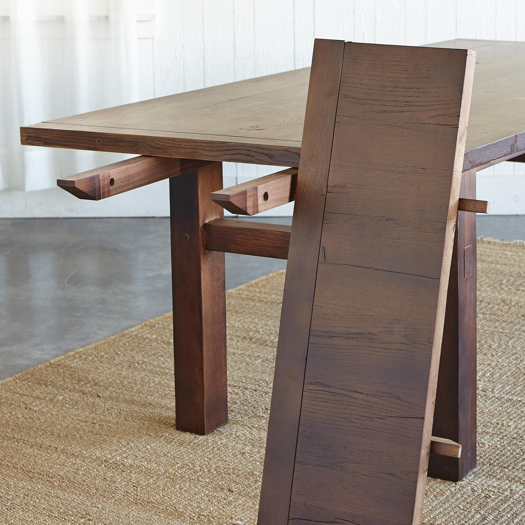 OAKWOOD EXTENSION DINING TABLE: View 4
