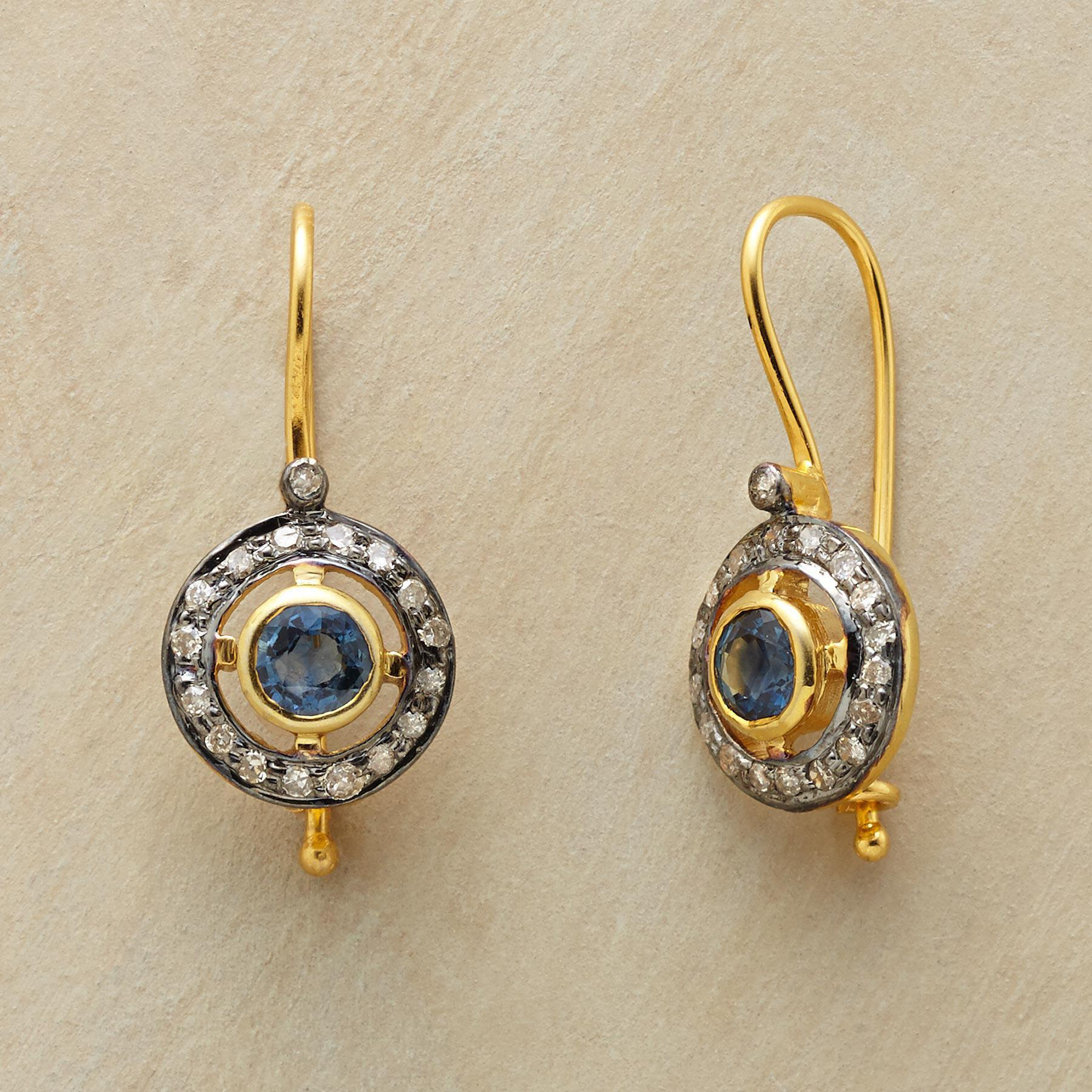 SAPPHIRE CORONA EARRINGS: View 1