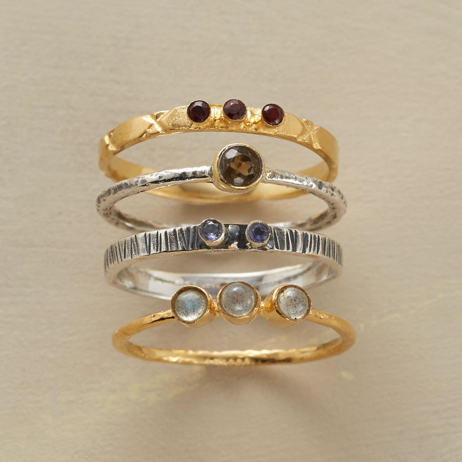 GALAXY RINGS, SET OF 4: View 1
