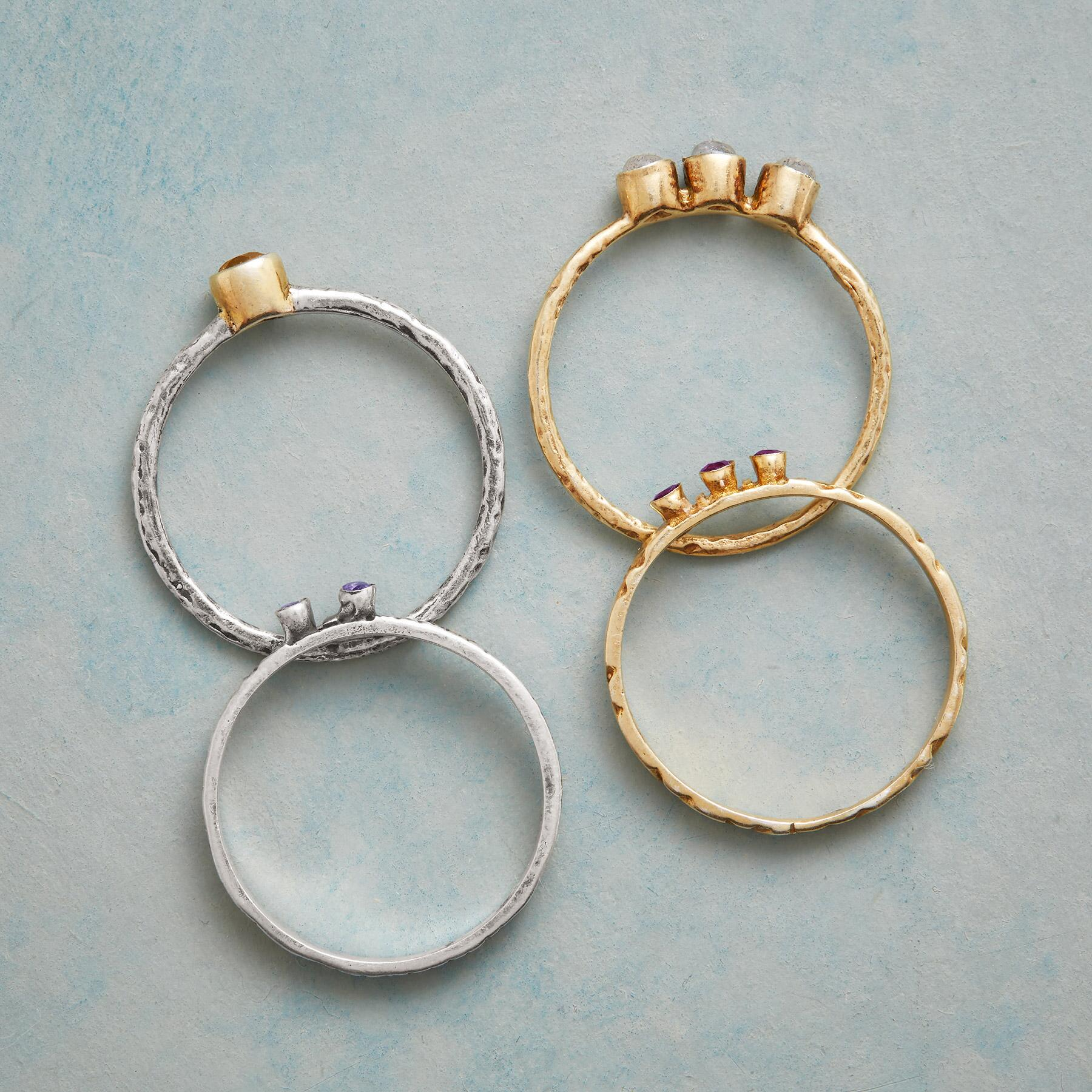 GALAXY RINGS, SET OF 4: View 2