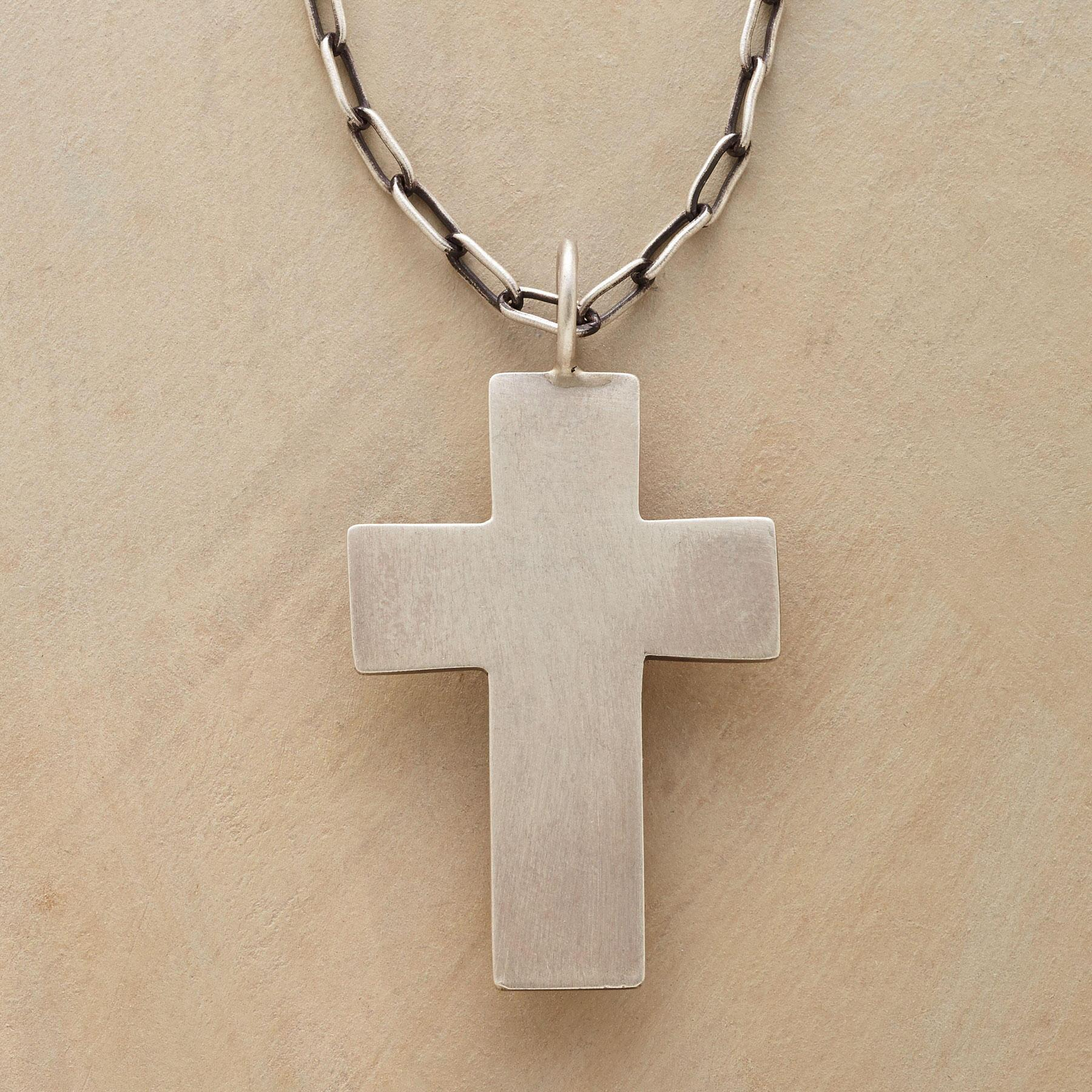 ICONIC CROSS NECKLACE: View 1