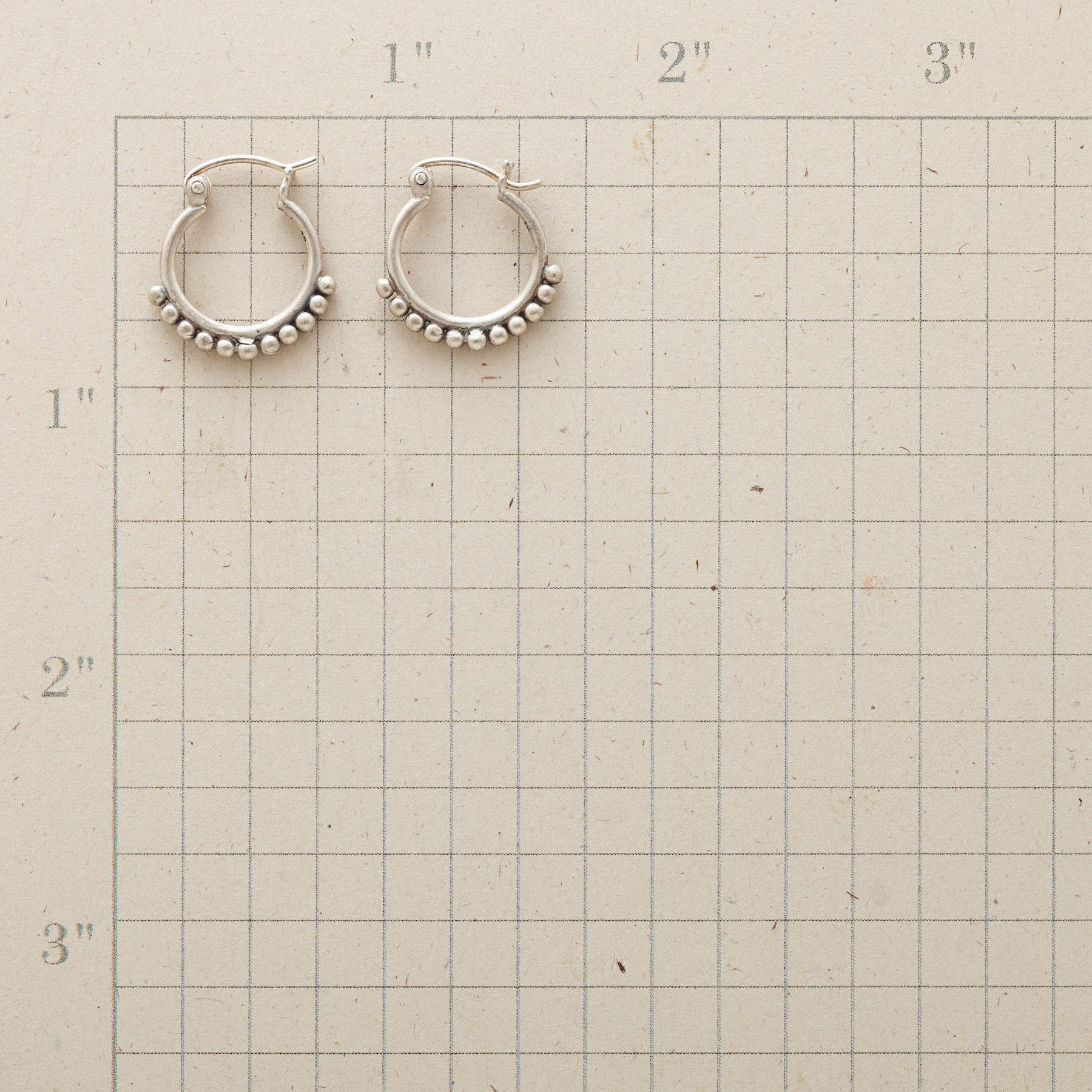 SILVER BEAD HOOP EARRINGS: View 2