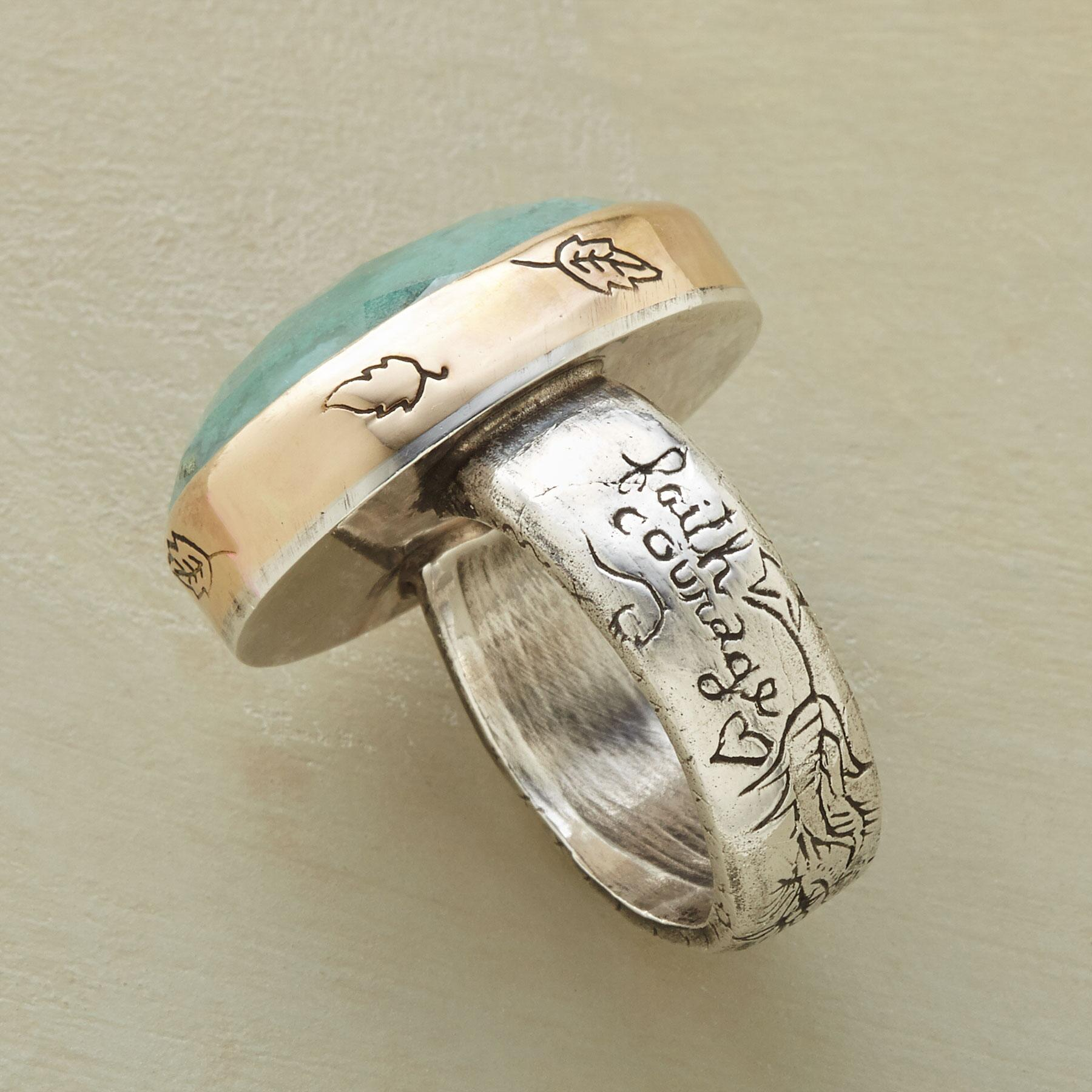 COURAGE & HEART RING: View 2