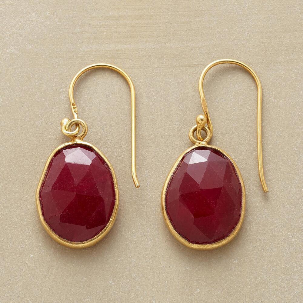 RUBY PLUM EARRINGS: View 1