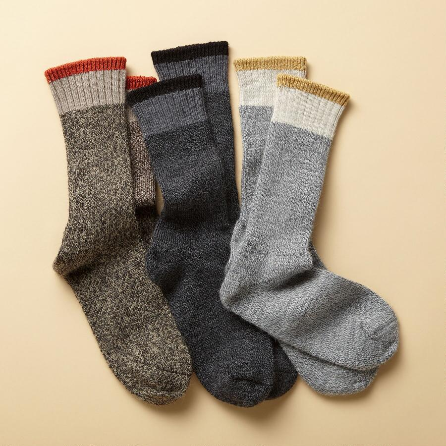 SOJOURNER SOCKS, SET OF 3