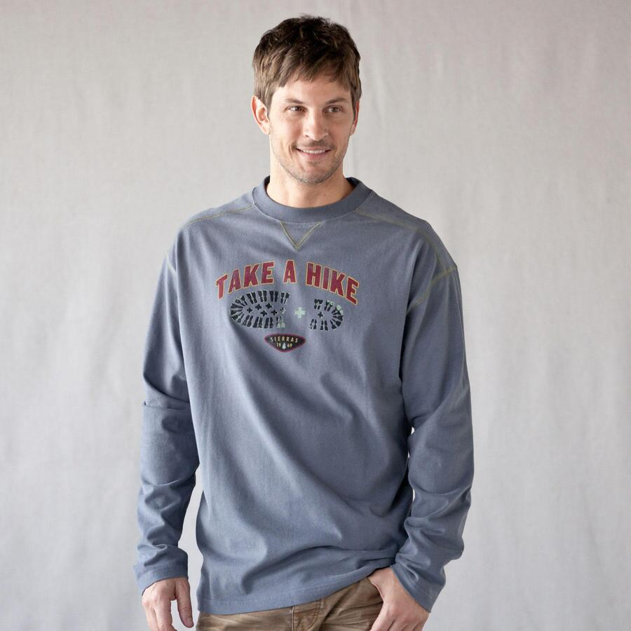 TAKE A HIKE STEEL LONG SLEEVE TEE