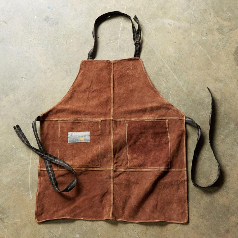 SUEDE GRILL APRON