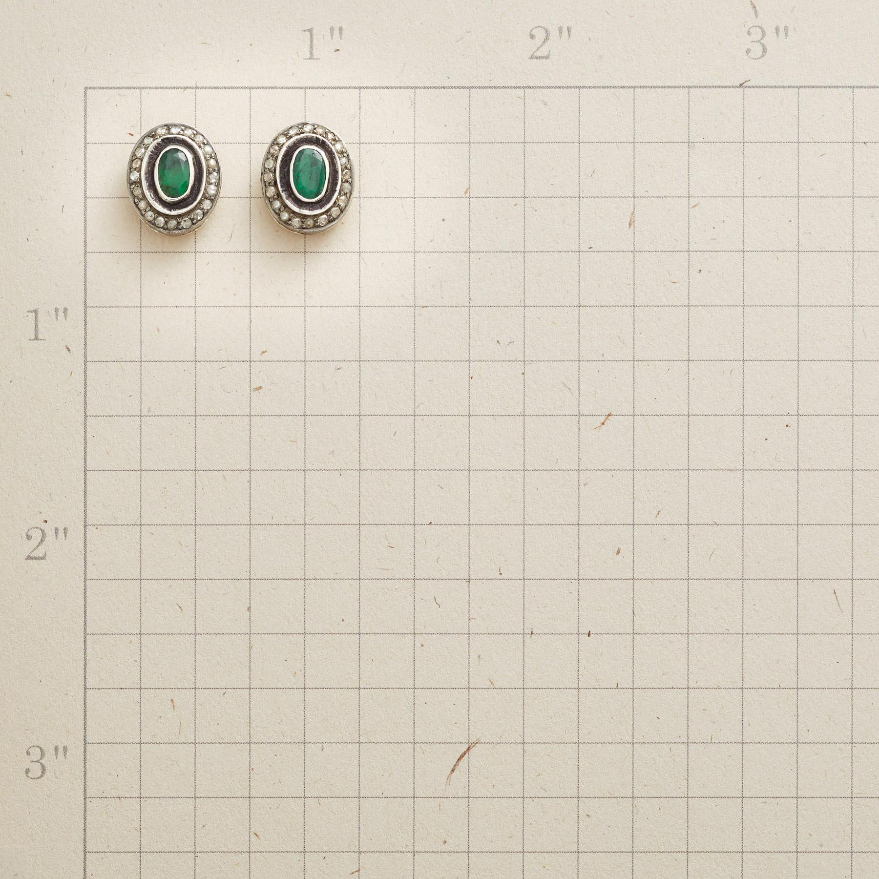 FLOATING EMERALD EARRINGS: View 2