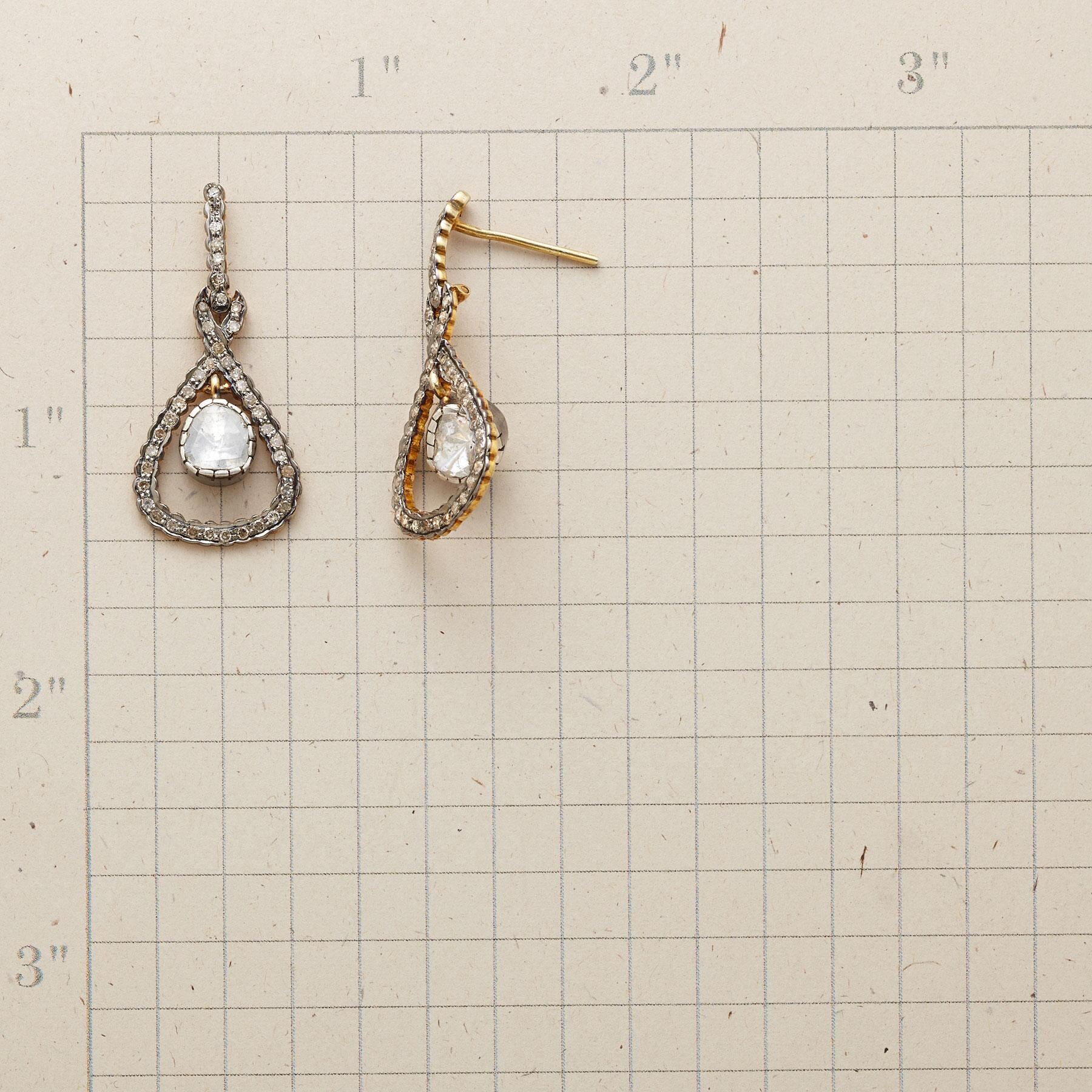 DIAMOND HALF-SHELL EARRINGS: View 2