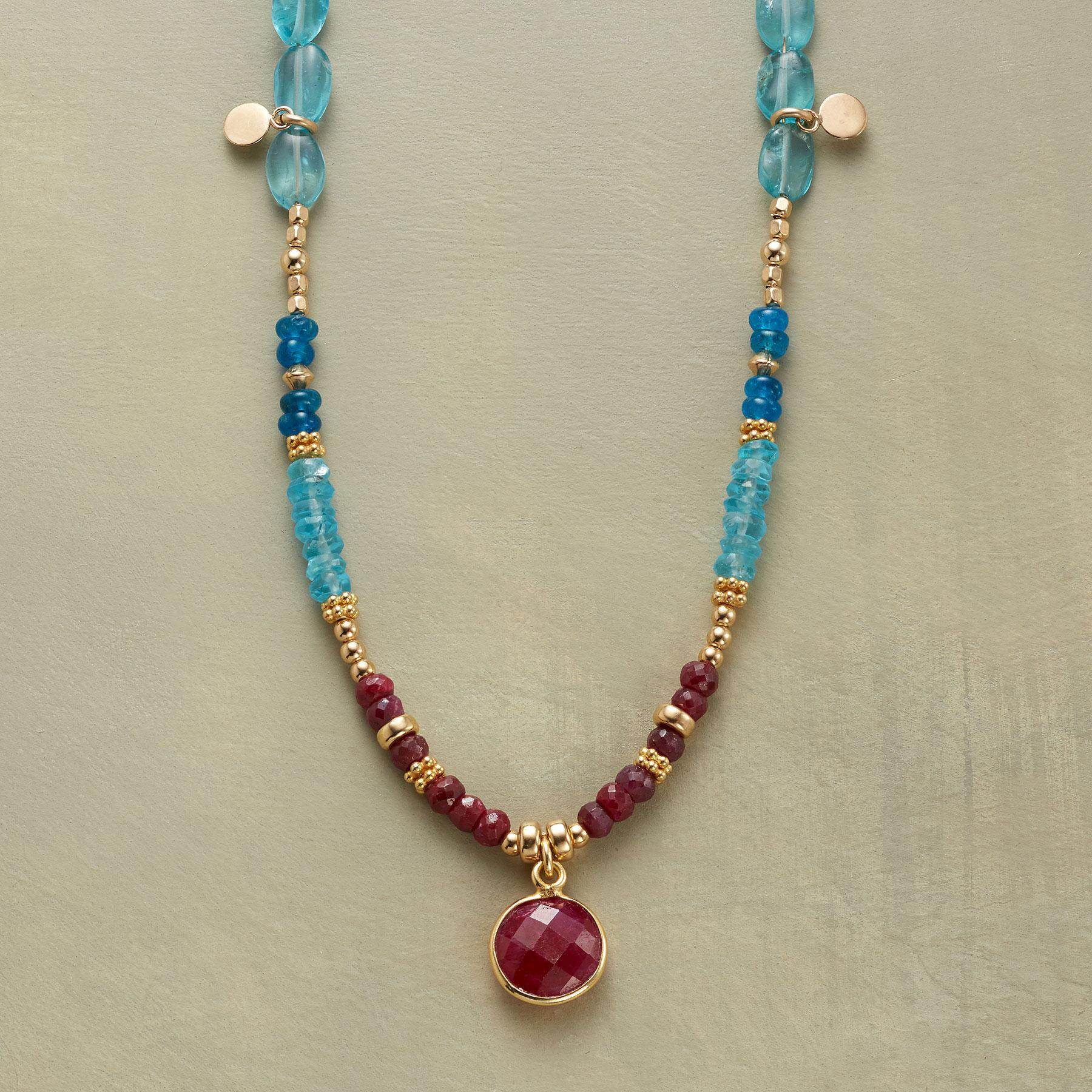 RUBY BLUES NECKLACE: View 1