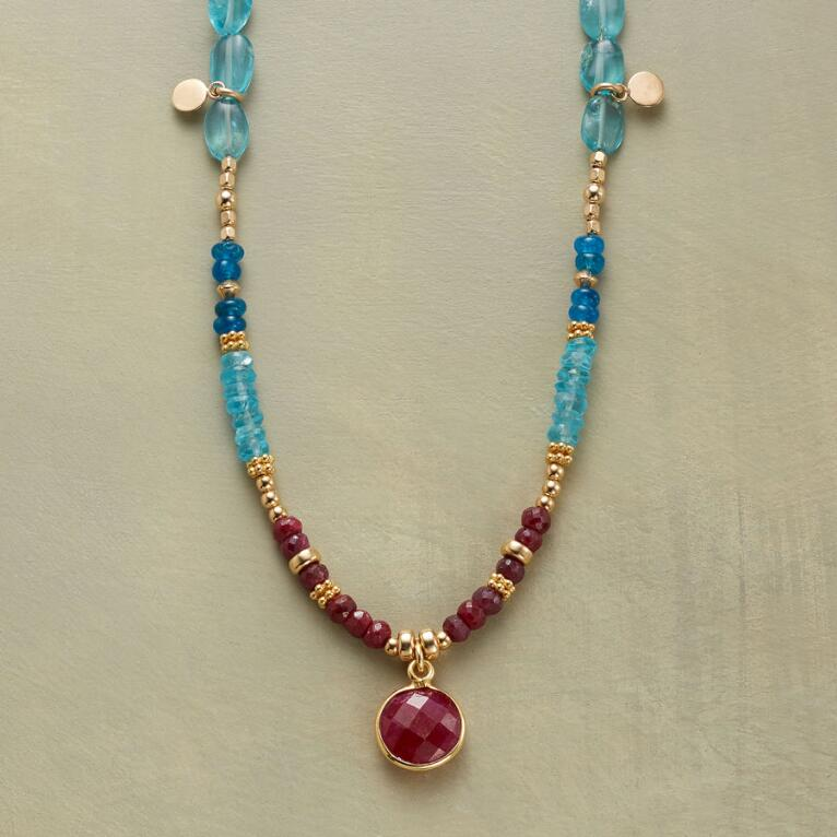RUBY BLUES NECKLACE