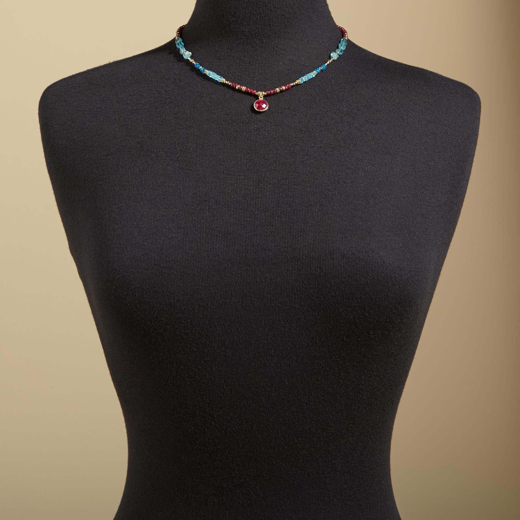 RUBY BLUES NECKLACE: View 4