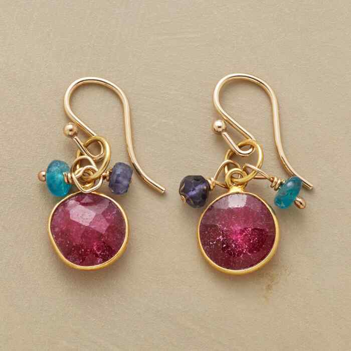RUBY BLUES EARRINGS