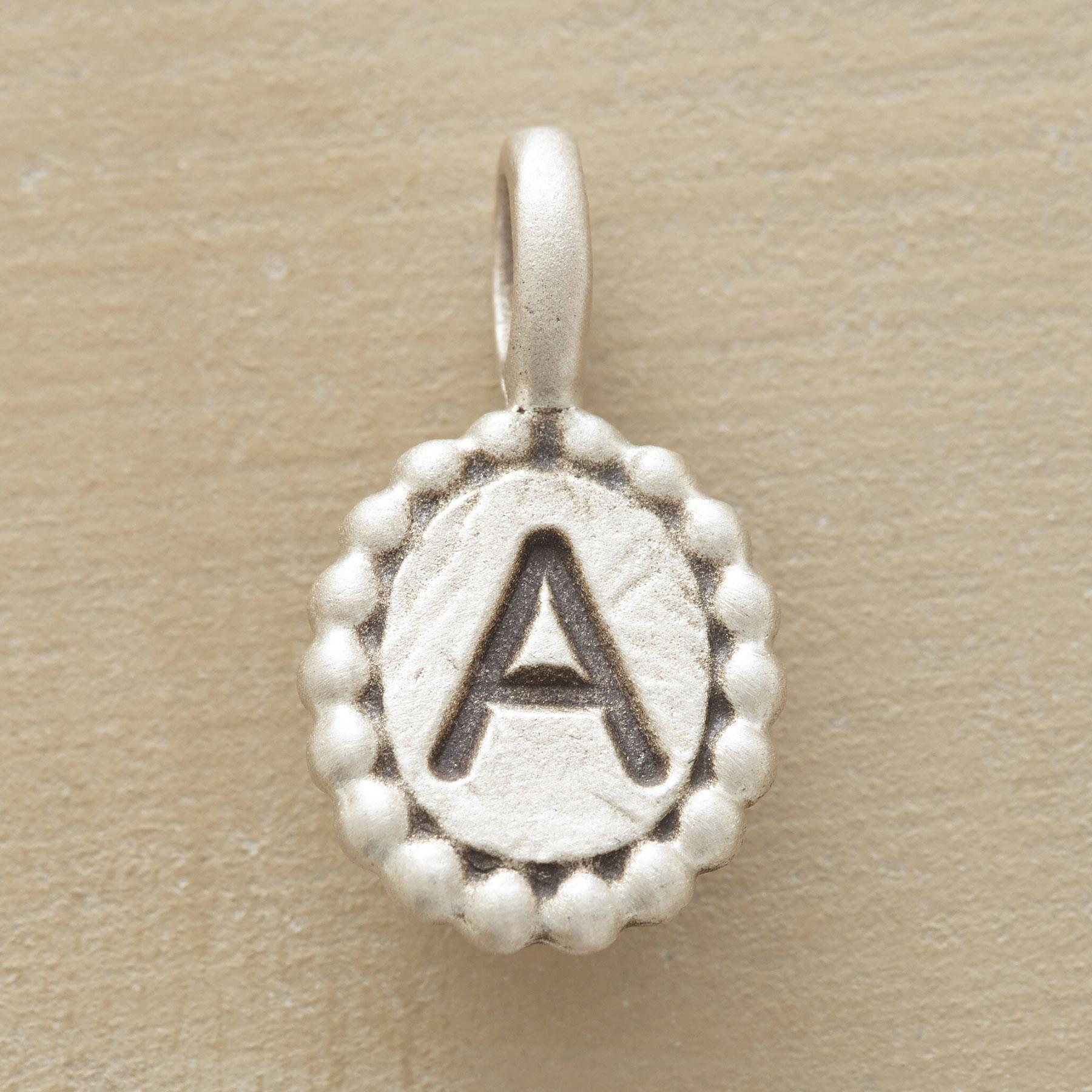 SILVER INITIAL CHARMS: View 1