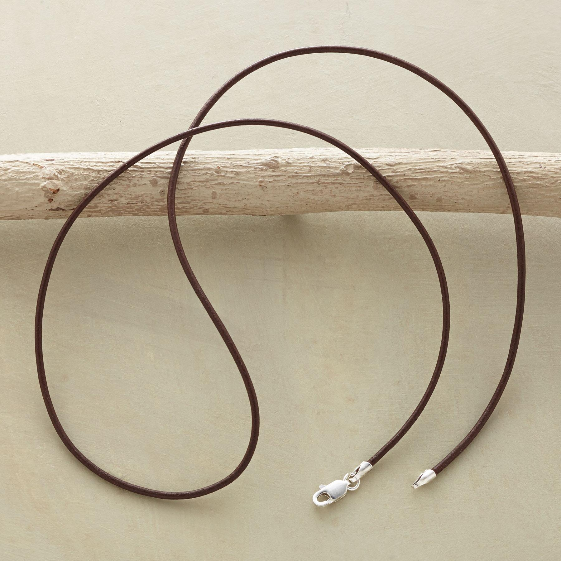 LEATHER CORD NECKLACE: View 2