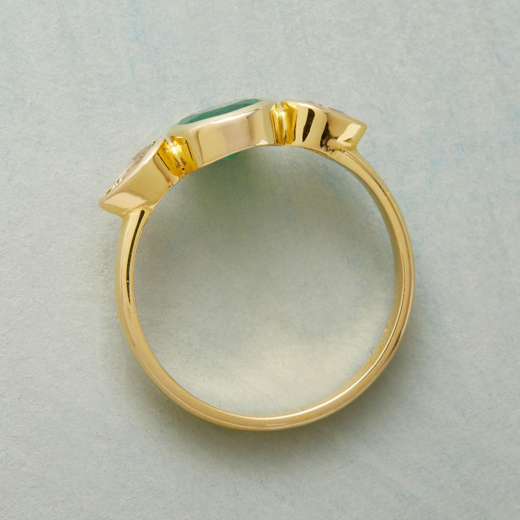 TEARDROPS EMERALD RING: View 2