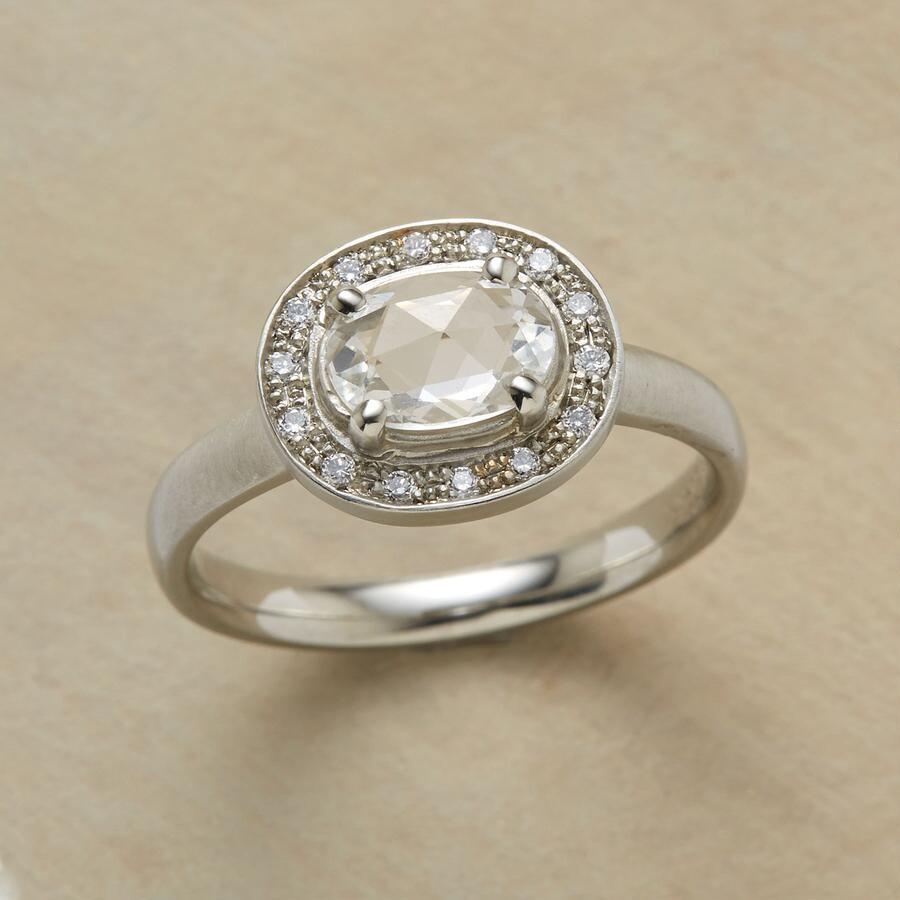 SHOWSTOPPER WHITE SAPPHIRE RING