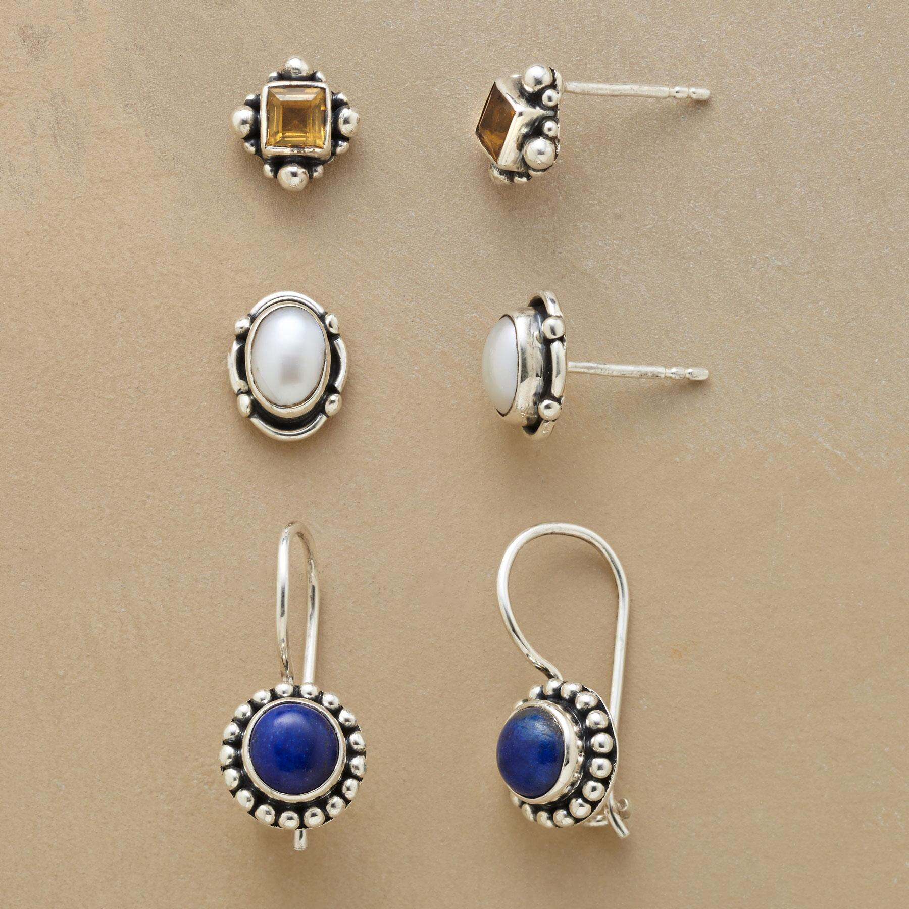 SKY LIGHTS EARRING TRIO: View 1