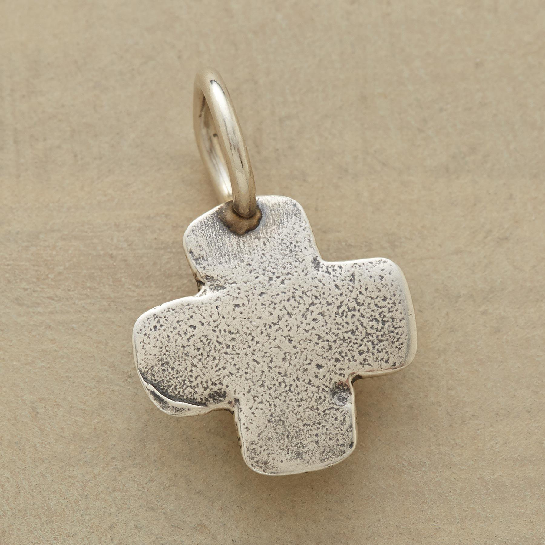 STERLING SILVER CROSS CHARM: View 1