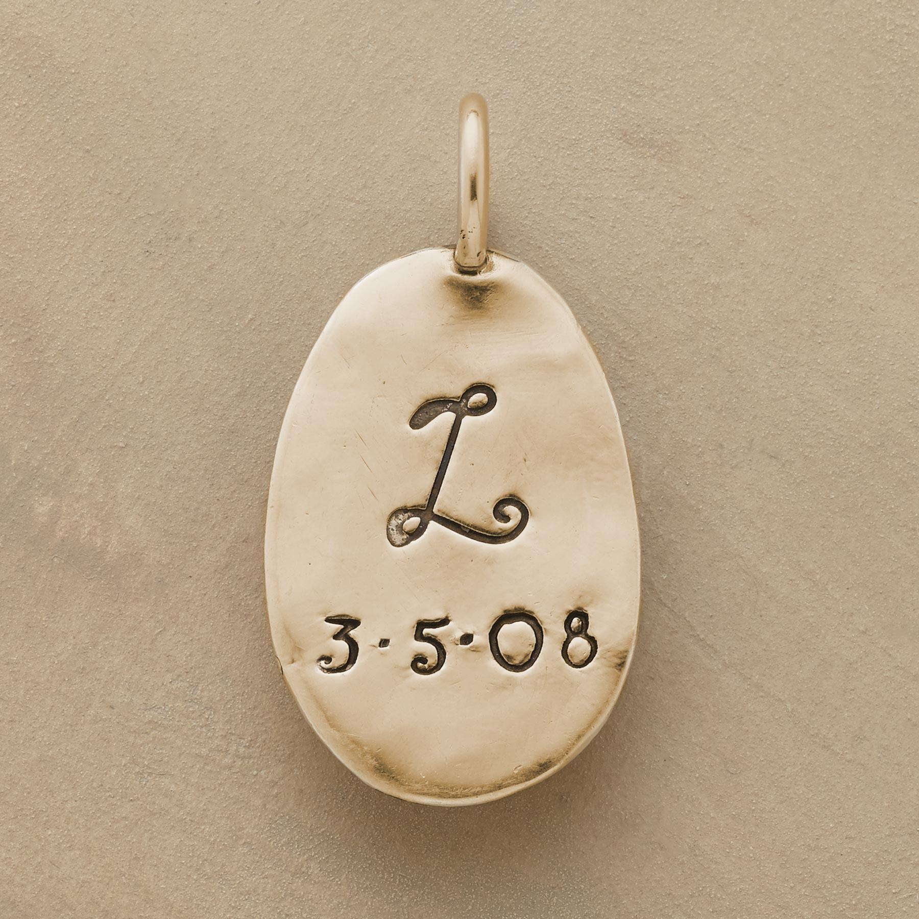 GOLD PERSONALIZED ANGEL CHARM: View 2