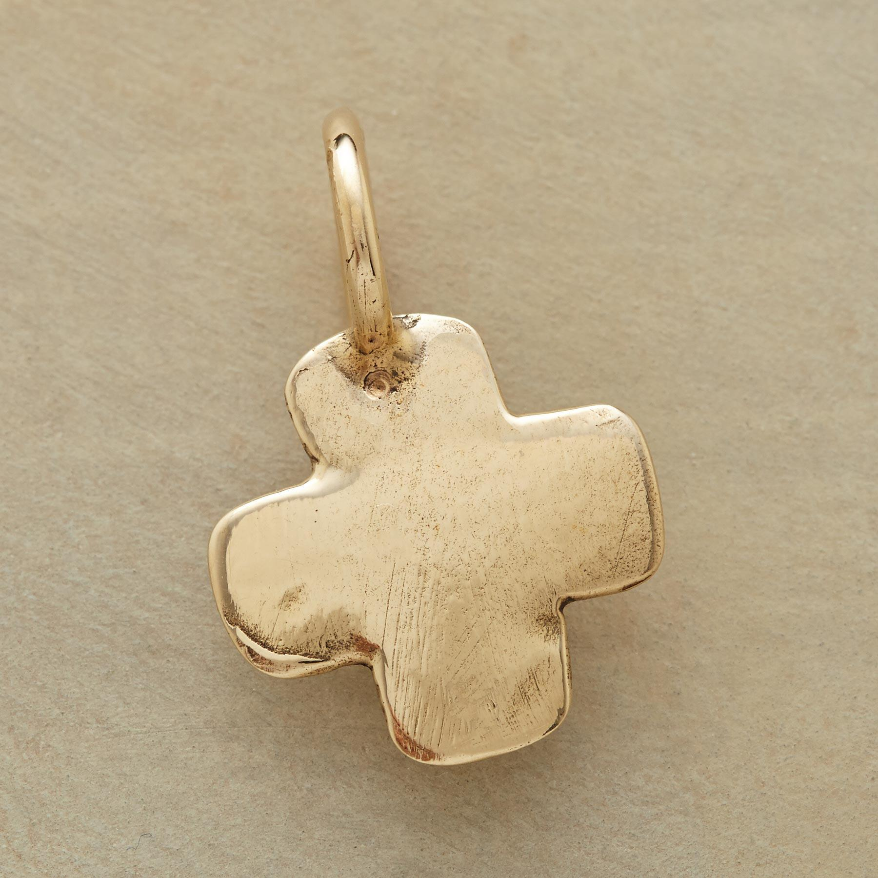 14KT GOLD CROSS CHARM: View 1