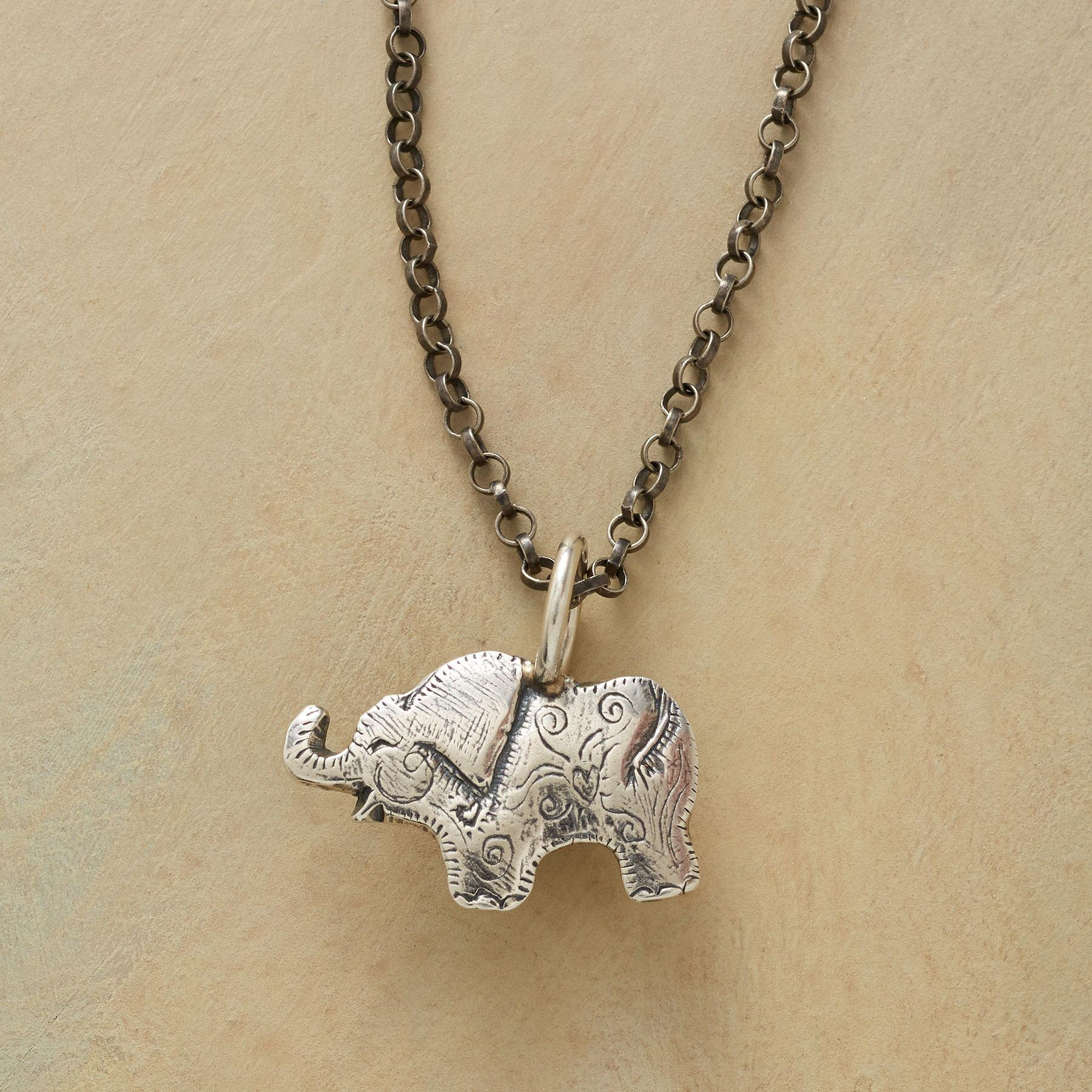 STERLING SILVER ELEPHANT CHARM: View 3