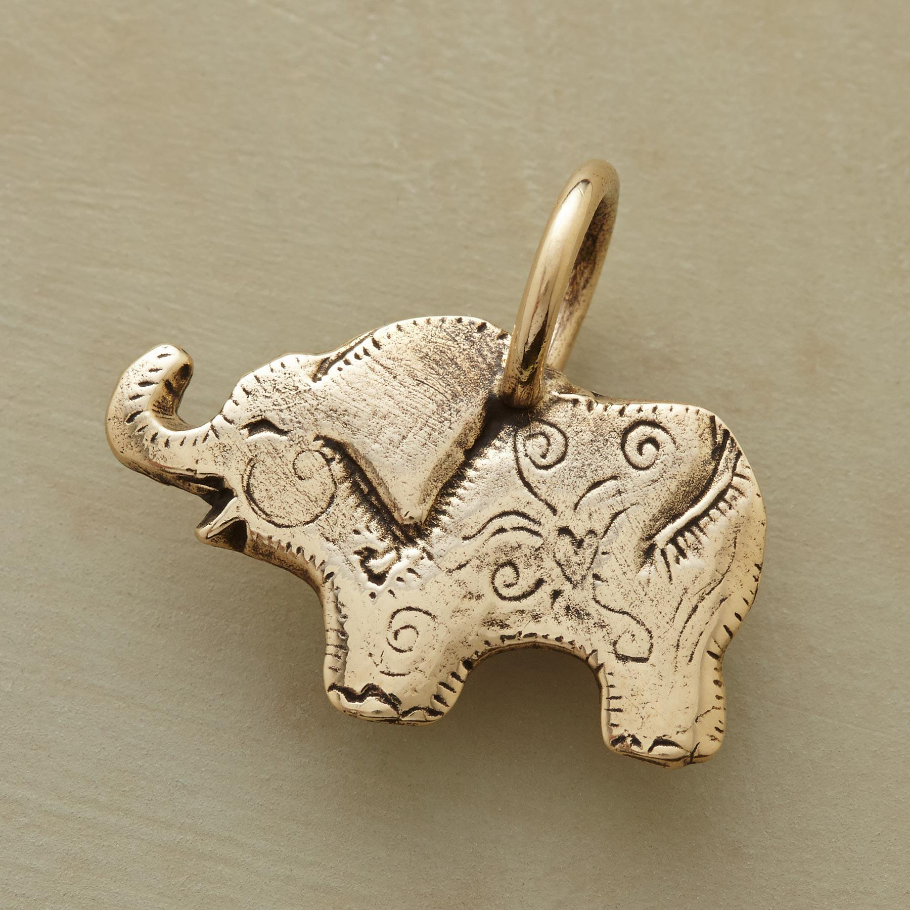 14KT GOLD ELEPHANT CHARM: View 1