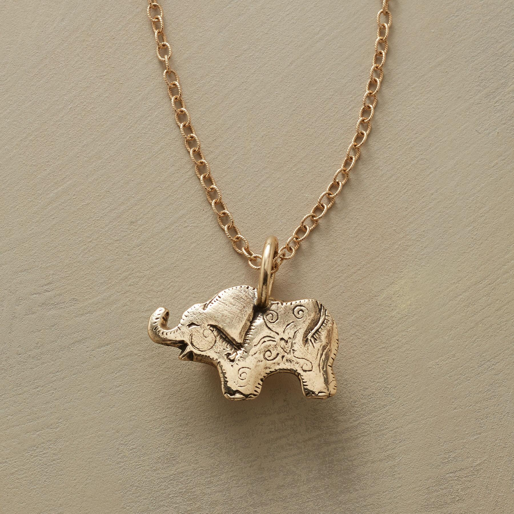 14KT GOLD ELEPHANT CHARM: View 3