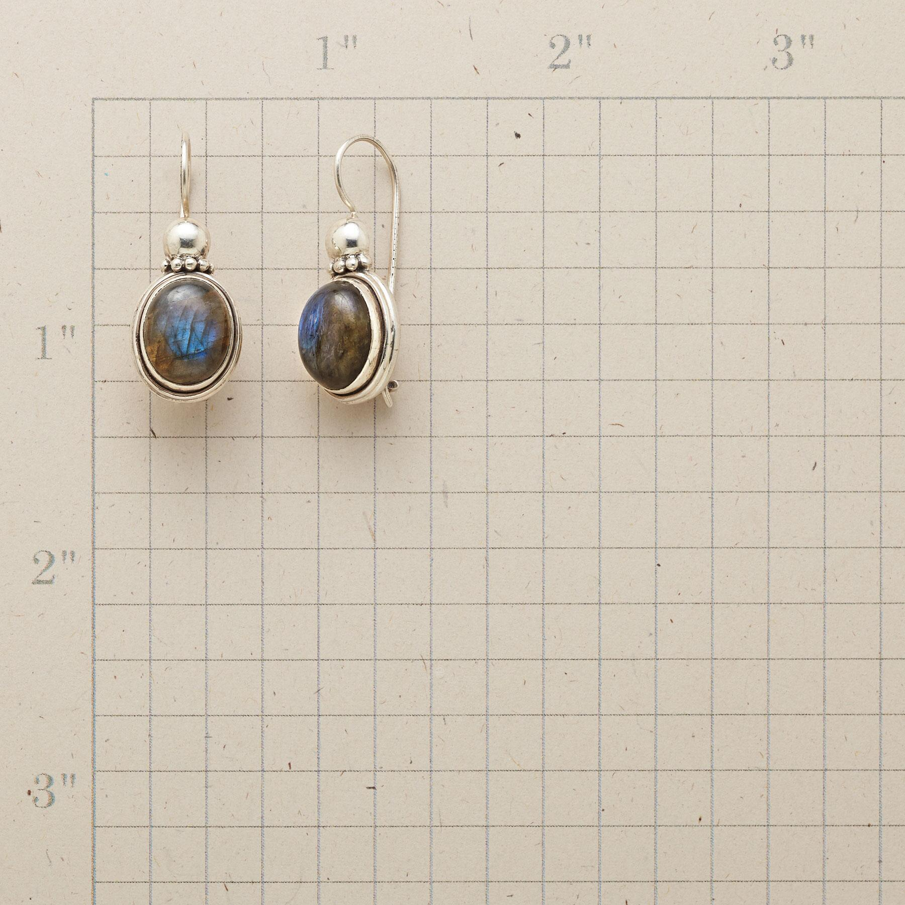 CROWNED LABRADORITE EARRINGS: View 2